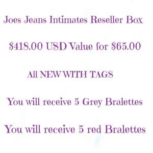 JOES JEANS RESELLERS BOX $65.00 for $418 USD VALUE